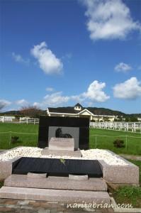 110927_記念館にあるナリタブライアンの石碑