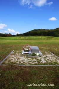 110927_丘の上のブライアンのお墓掃除前